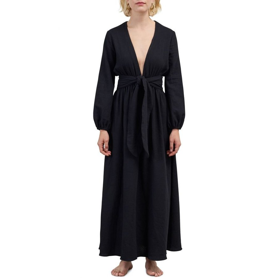 マラ ホフマン MARA HOFFMAN レディース ビーチウェア 水着・ビーチウェア Luna Cover-Up Maxi Dress 黒