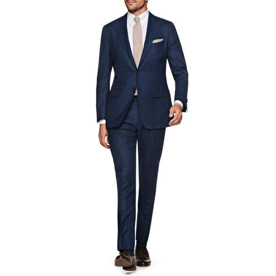【新作からSALEアイテム等お得な商品満載】 スーツサプライ SUITSUPPLY メンズ スーツ・ジャケット アウター Wool La La Spalla Slim Check Fit Check Wool Suit Navy, LIFE PUZZLE:108cf12c --- sonpurmela.online