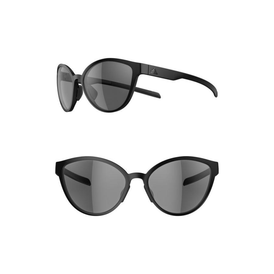 アディダス ADIDAS レディース スポーツサングラス Tempest 56mm Running Sunglasses 黒 Matte/ グレー