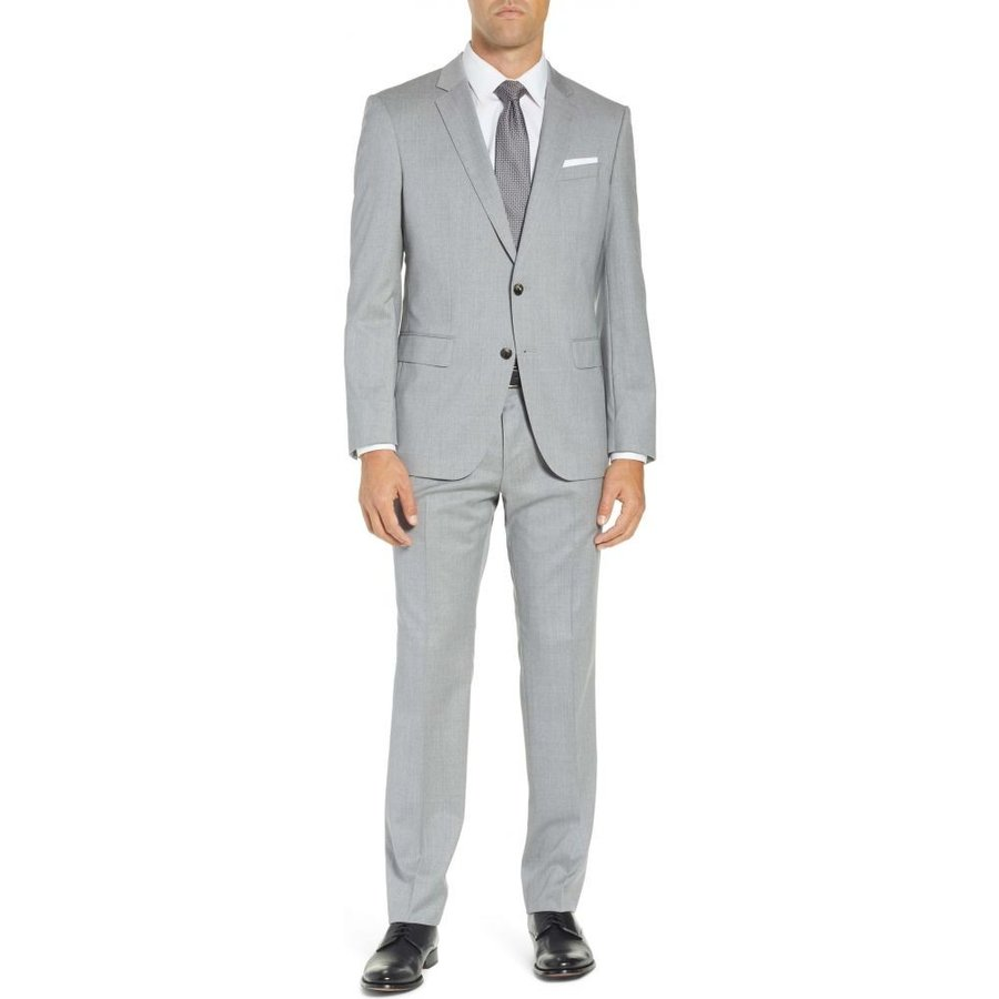 5A Grey Hugo Boss Boys 2-in-1 Suit Jacket