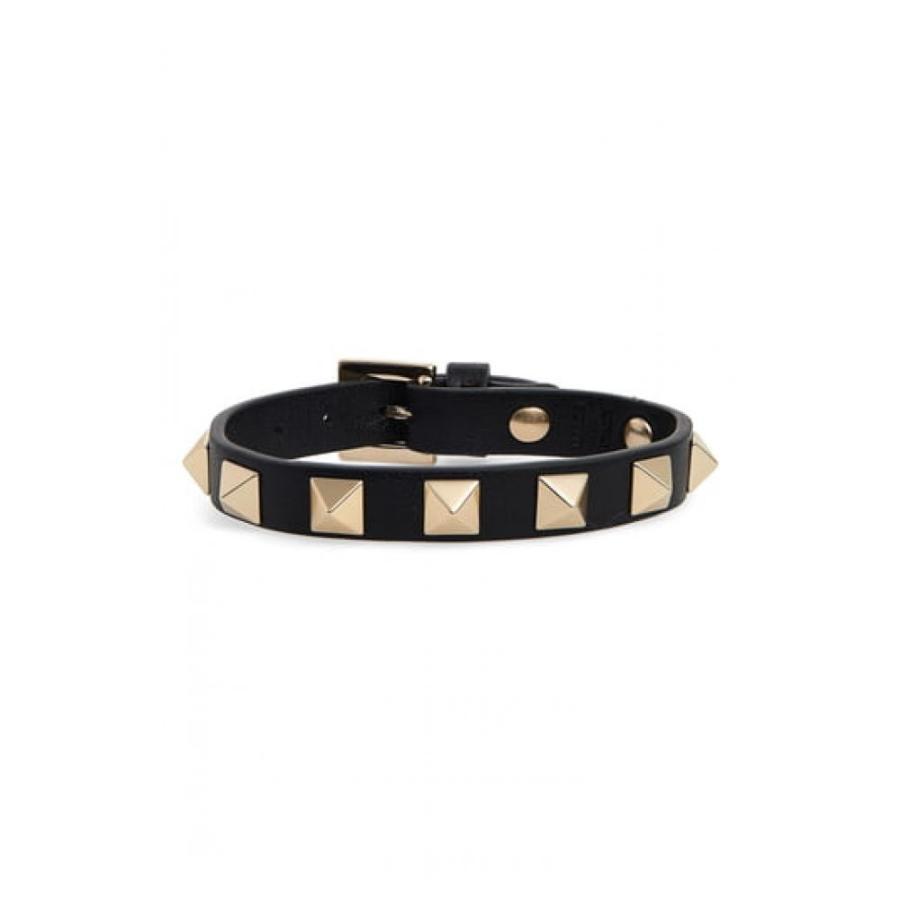 殿堂 ヴァレンティノ VALENTINO レディース ブレスレット ジュエリー・アクセサリー Rockstud Small Leather Bracelet Nero, アスリートタウン 585fbf9a