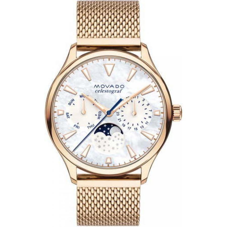 豪奢な モバード MOVADO レディース 腕時計 Heritage Multifunction Mesh Band Watch36mm Rose Gold/Mop/Rose Gold, DEROQUE 1677855e