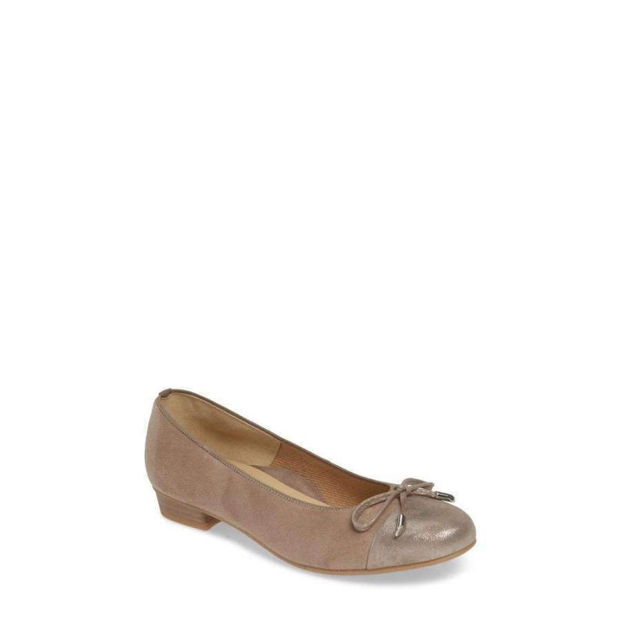 アラ ARA レディース スリッポン・フラット シューズ・靴 'Betty' Cap Toe Flat Taupe Suede