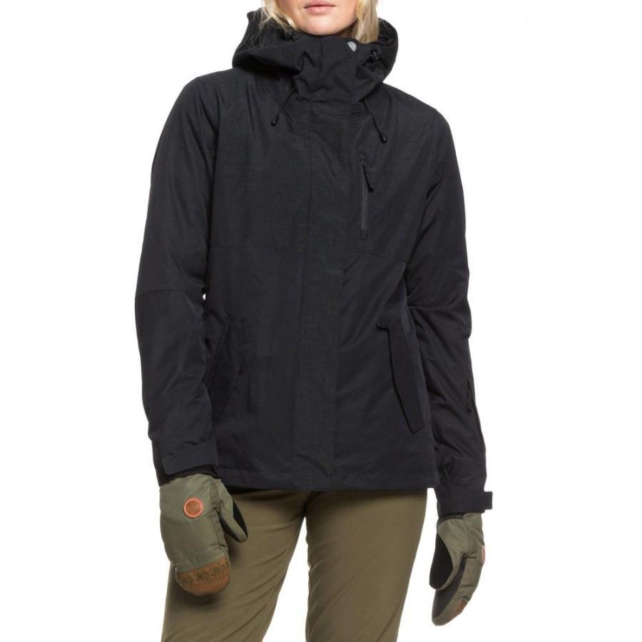 ロキシー ROXY レディース レインコート アウター Jetty 3-in-1 Waterproof Jacket True 黒