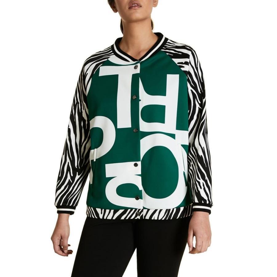 超歓迎された マリナ Jacket Dark リナルディ MARINA RINALDI レディース ブルゾン アウター Green Ocraceo Mix Print Scuba Bomber Jacket Dark Green, 釣鐘屋本舗:d41d8cd9 --- opencandb.online