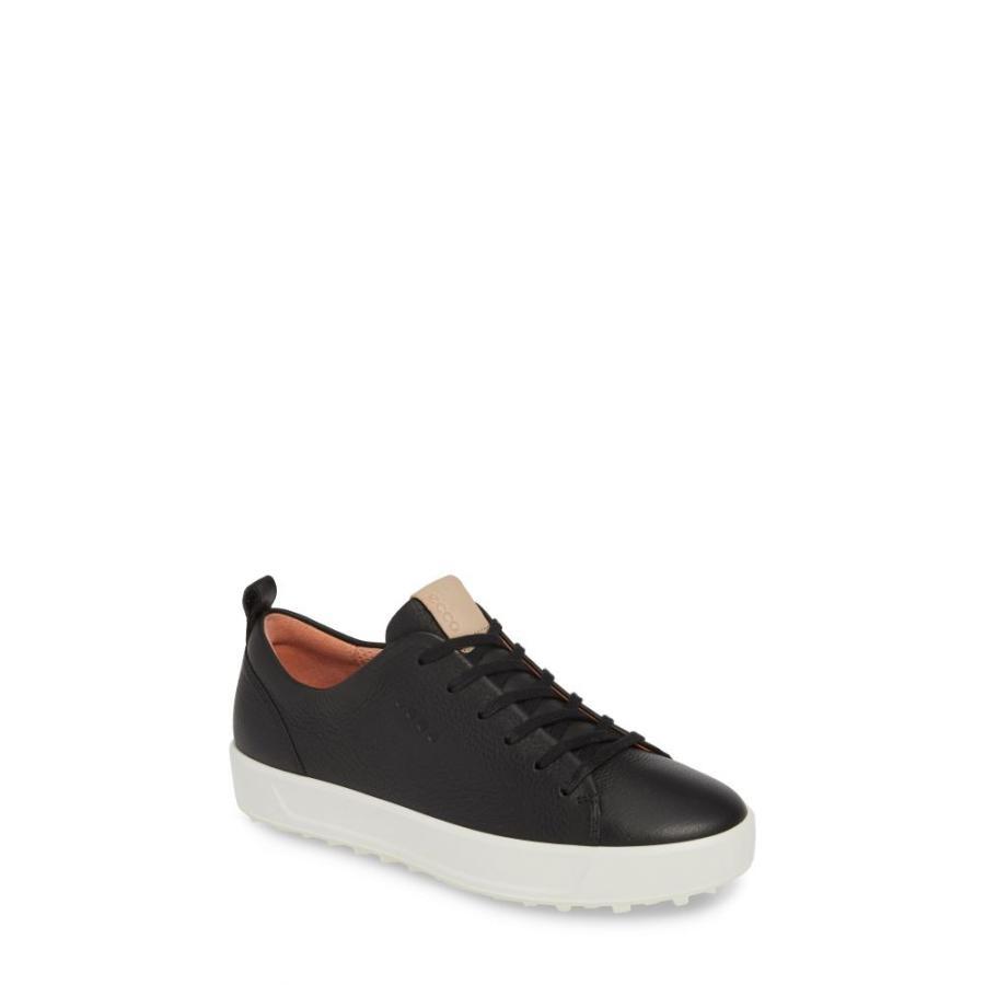 最も  エコー ECCO レディース ゴルフ シューズ・靴 Soft Water Repellent Golf Shoe Black Leather, 小さな石屋さん c27fca73