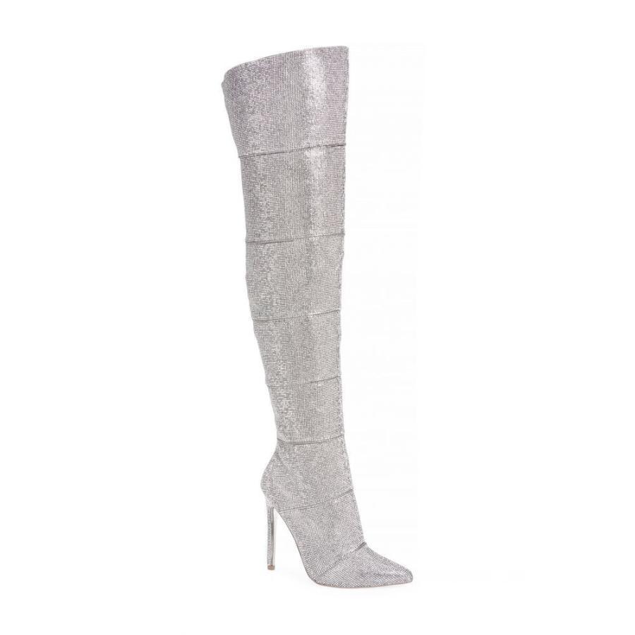 スティーブ マデン STEVE MADDEN レディース ブーツ ロングブーツ ニーハイブーツ シューズ・靴 Wonder Crystal Embellished Over the Knee Boot Rhinestone