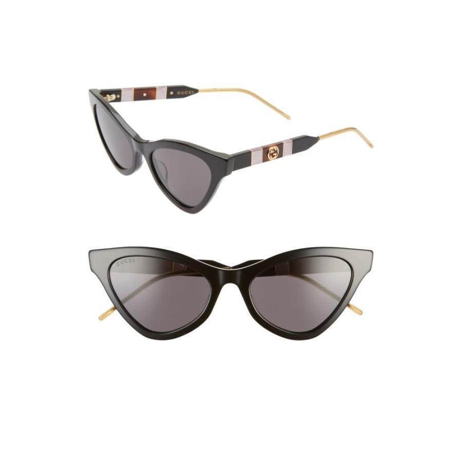 激安特価  グッチ GUCCI GUCCI Solid レディース メガネ・サングラス 55mm Cat Eye Sunglasses 55mm Black/Grey Solid, ミツトミスポーツ:396e50e4 --- sonpurmela.online