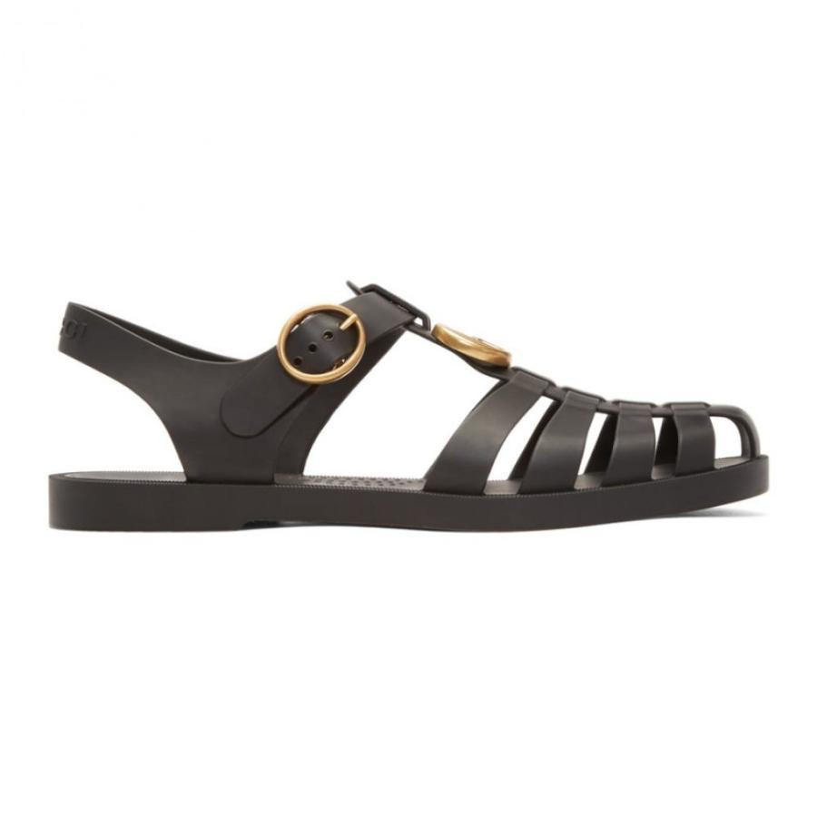 新しい グッチ Gucci Sandals メンズ サンダル シューズ・靴 Black Glossy Rubber Black サンダル Sandals, 喜多方市:81c2dc4c --- grafis.com.tr
