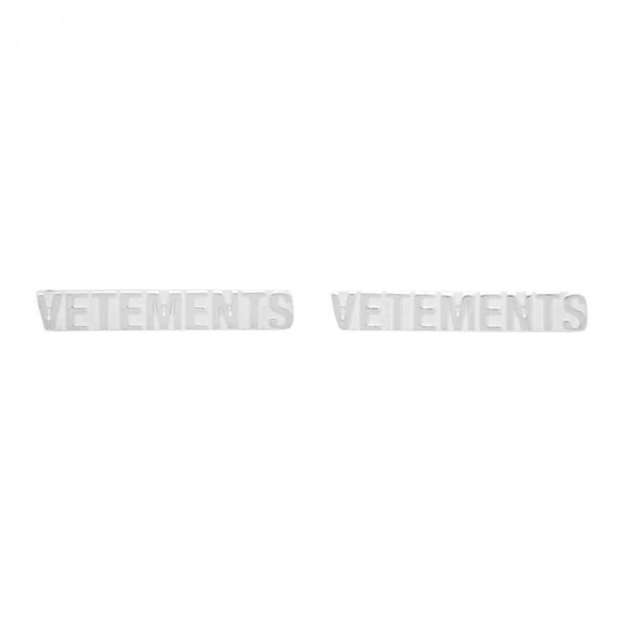 【アウトレット☆送料無料】 ヴェトモン VETEMENTS メンズ イヤリング・ピアス ジュエリー・アクセサリー Silver Logo Stud Earrings Silver, キシモトチョウ 7af4cb5a