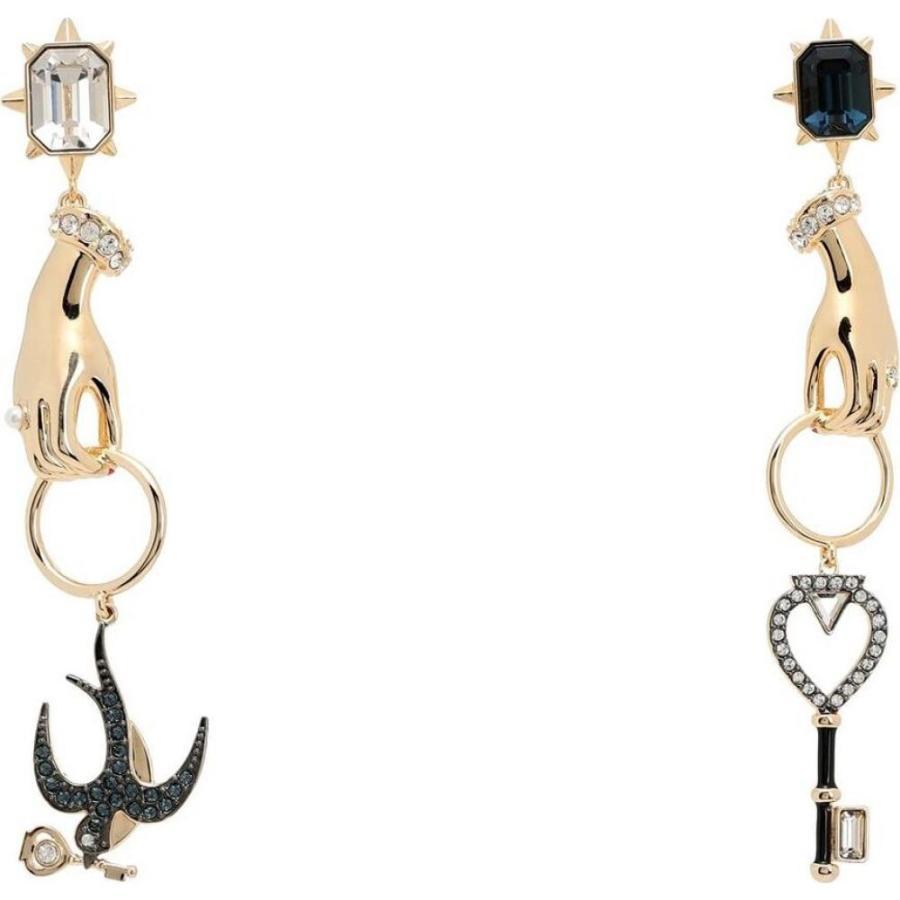 定番 スワロフスキー SWAROVSKI レディース イヤリング・ピアス ジュエリー・アクセサリー tarot magic earrings Gold, サムライ家具 ab387875