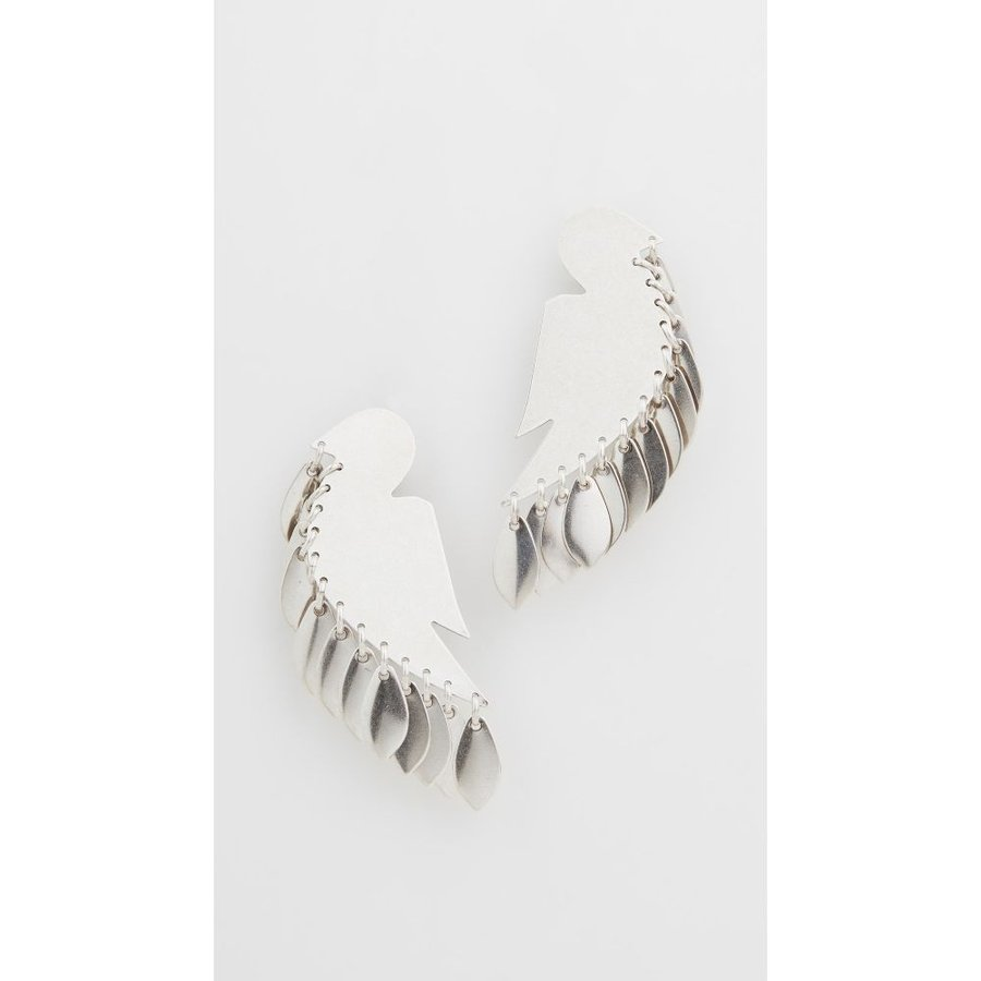 最前線の イザベル マラン Isabel Isabel Marant レディース イヤリング・ピアス ジュエリー Silver and・アクセサリー Dove and Leaf Earrings Silver, mamae(ママエ):da00e230 --- airmodconsu.dominiotemporario.com