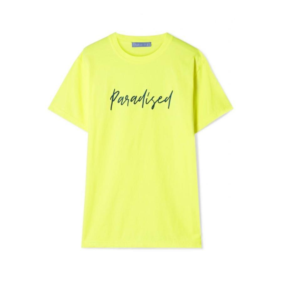 パラダイス Paradised レディース ビーチウェア 水着・ビーチウェア Embroide赤 neon cotton-jersey T-shirt