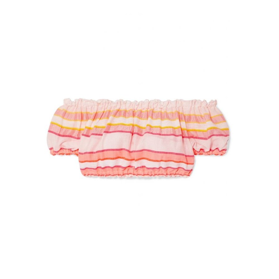 レムレム LemLem レディース ビーチウェア 水着・ビーチウェア Eskedar off-the-shoulder striped cotton-blend gauze top