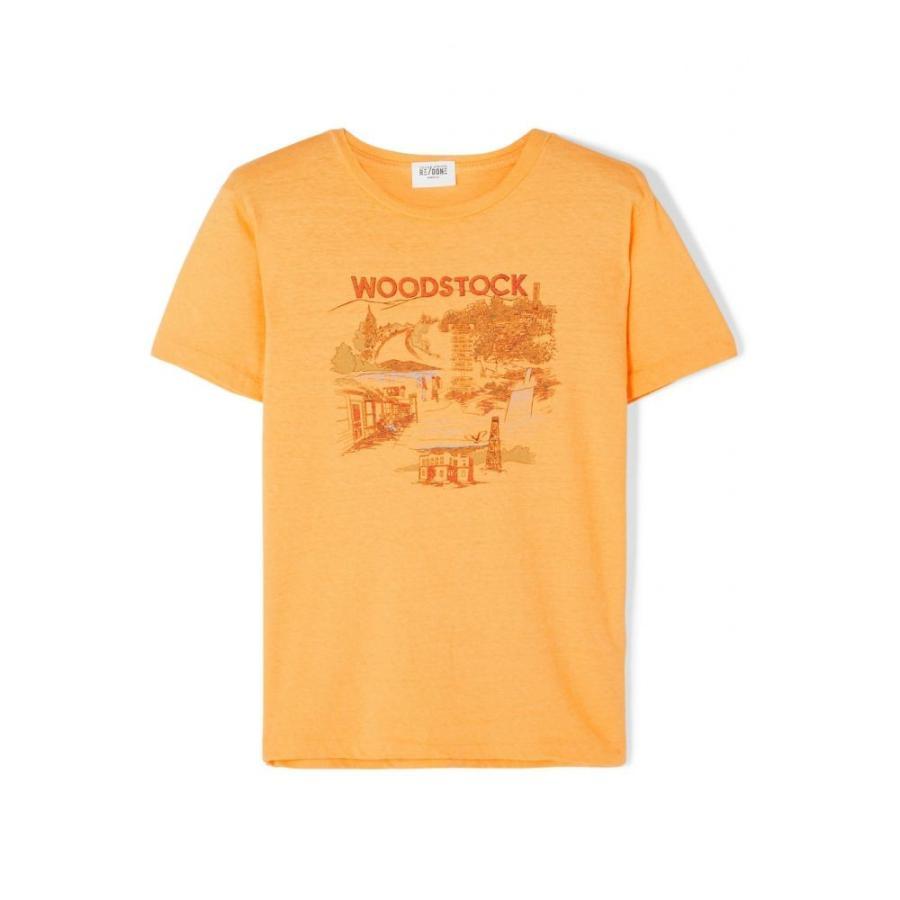 ソリッド&ストライプ Solid & Striped レディース ビーチウェア Tシャツ 水着・ビーチウェア re/done woodstock printed cotton t-shirt