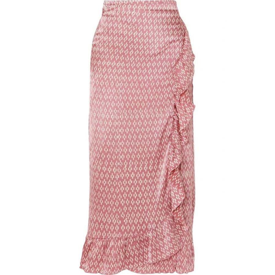 クロエ カッサンドロ Cloe Cassandro レディース ビーチウェア 水着・ビーチウェア Kimi ruffled printed silk-satin wrap skirt