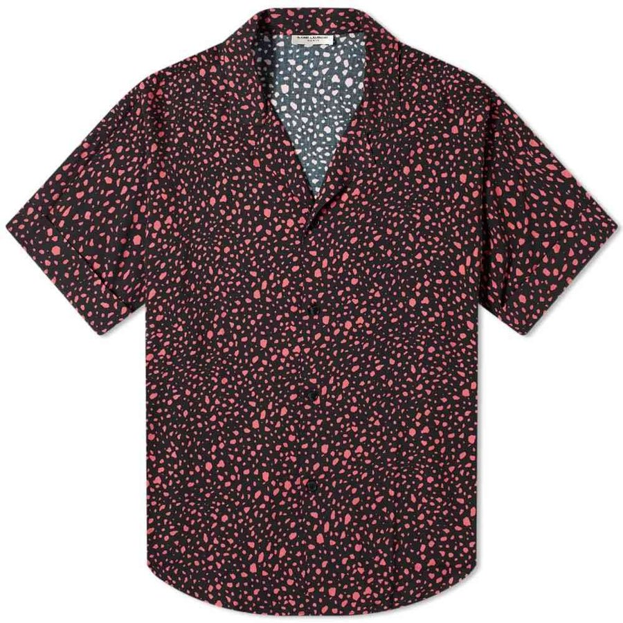 【時間指定不可】 イヴ Shirt サンローラン Saint Laurent メンズ Vacation 半袖シャツ トップス 半袖シャツ Pebble Printed Vacation Shirt Black/Pink, SOAR SOUND:ed336d9c --- grafis.com.tr