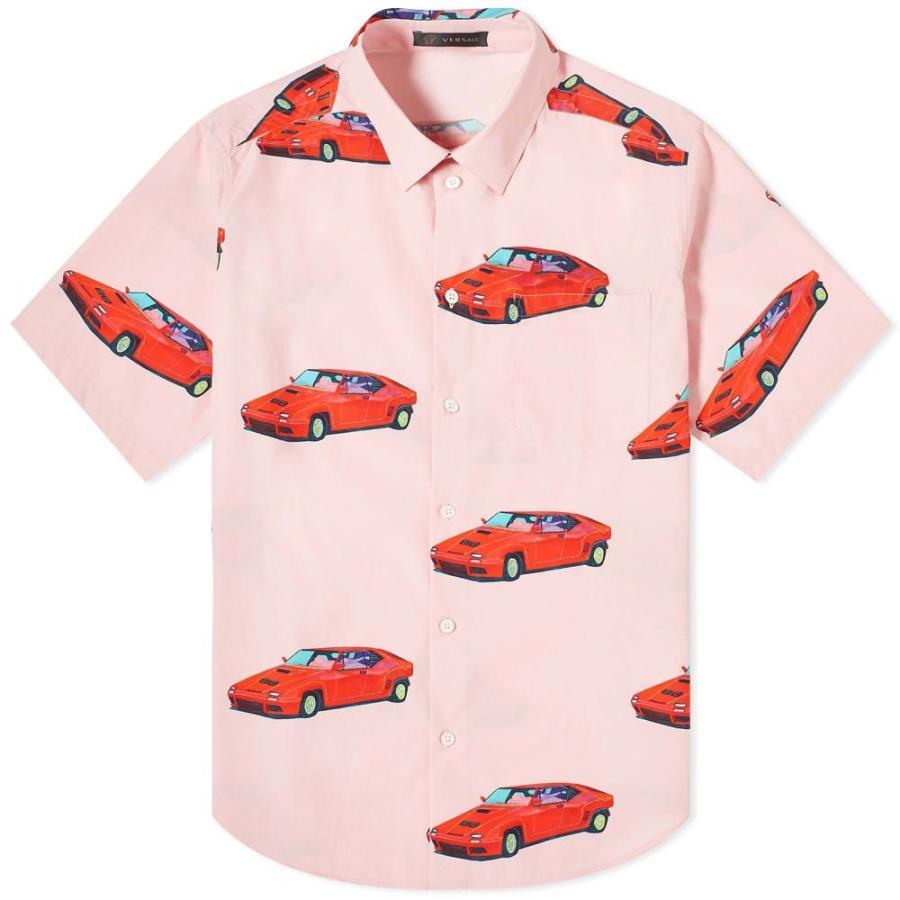 品質一番の ヴェルサーチ 半袖シャツ Versace All メンズ Sleeve 半袖シャツ トップス x Andy Dixon Short Sleeve All Over Print Cars Shirt Pink/Red, レディースパンツ通販専門いろどり:a5cfbc50 --- grafis.com.tr
