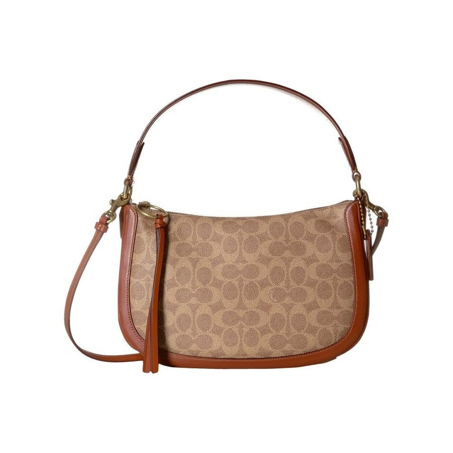 競売 コーチ レディース COACH レディース ショルダーバッグ Canvas バッグ Coated Canvas Sutton Signatures Sutton Crossbody Tan/Rust/Brass, 夢陶房:66cebb80 --- theroofdoctorisin.com