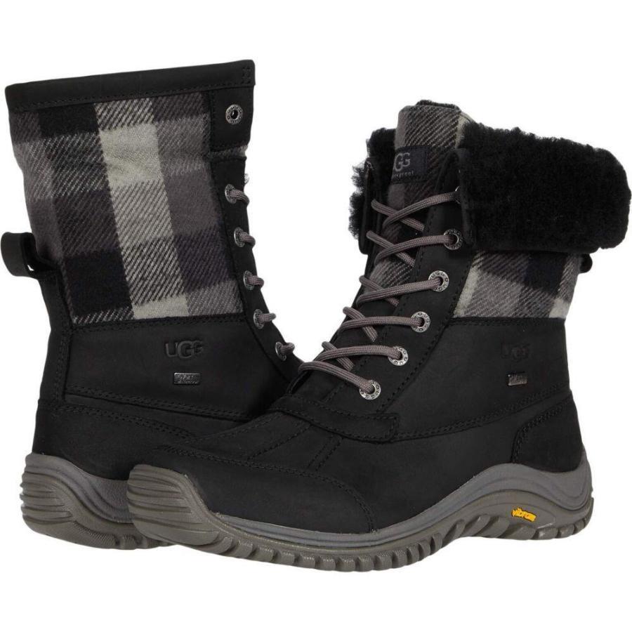 アグ UGG レディース ブーツ シューズ・靴 Adirondack Boot II Plaid Black|ef-3