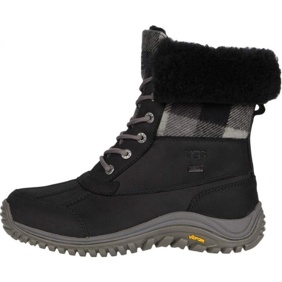 アグ UGG レディース ブーツ シューズ・靴 Adirondack Boot II Plaid Black|ef-3|04
