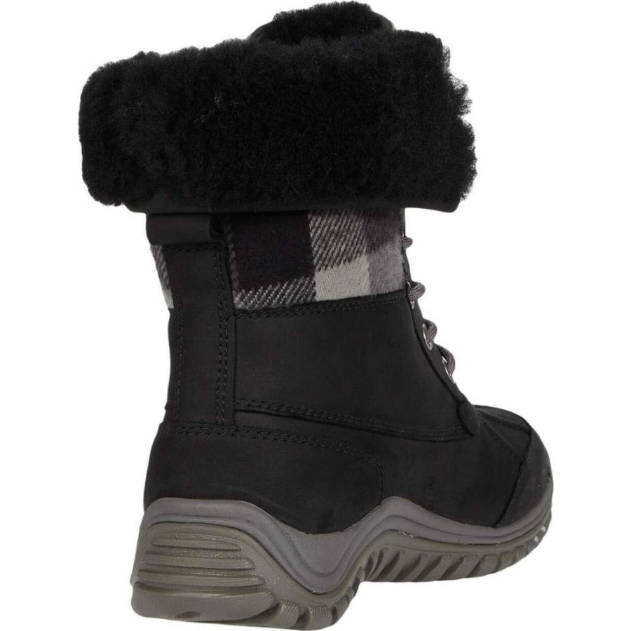 アグ UGG レディース ブーツ シューズ・靴 Adirondack Boot II Plaid Black|ef-3|05