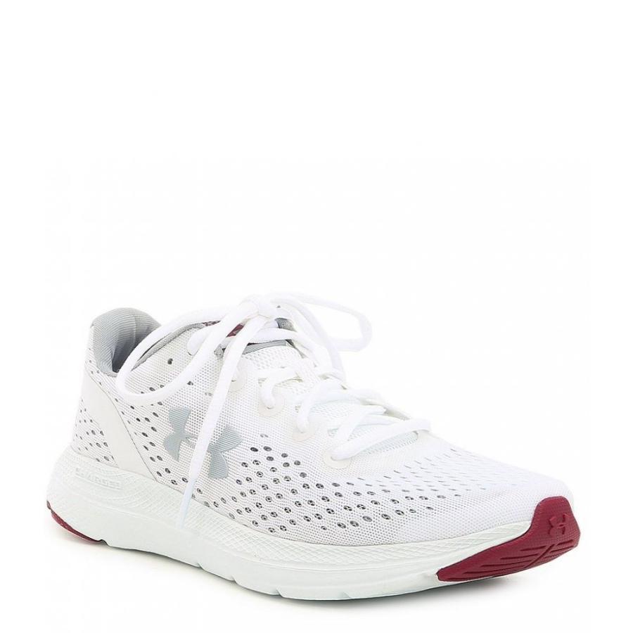 アンダーアーマー Under Armour レディース ランニング・ウォーキング シューズ・靴 charged impulse running shoe 白い/ピンク Quartz/Mod Gray
