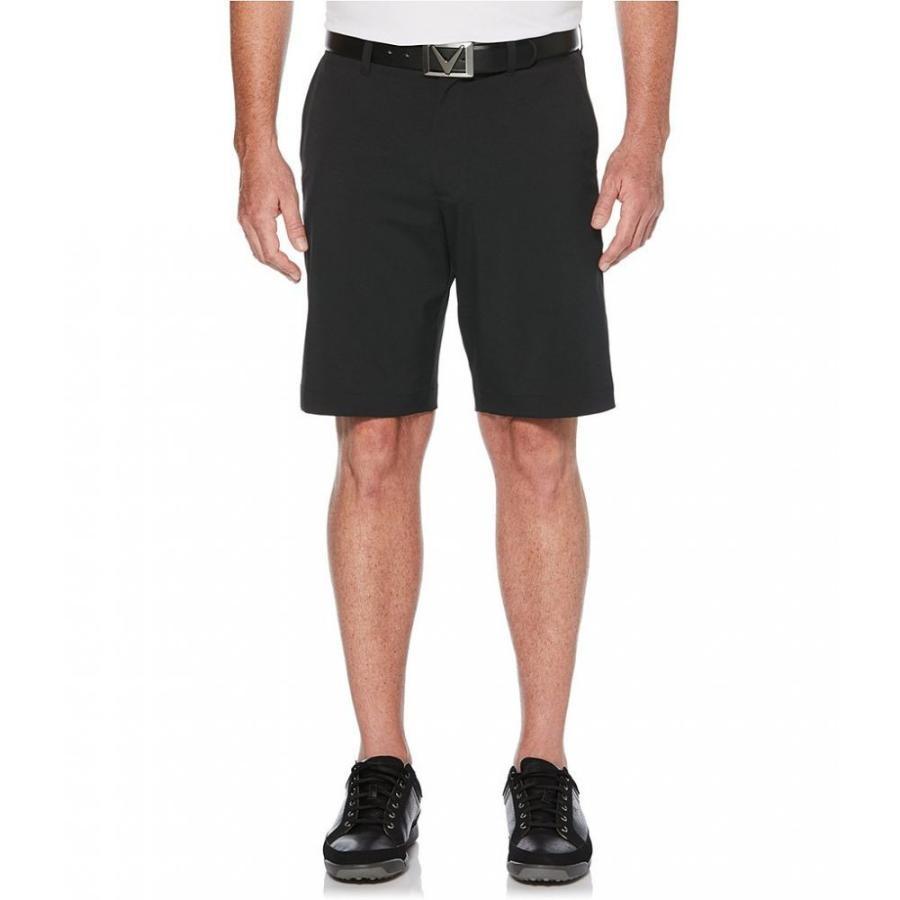キャロウェイ Callaway メンズ ボトムス・パンツ ゴルフ Golf Big & Tall 10 1/2' and 11 1/2' Inseam Classic Flat-Front Shorts Caviar