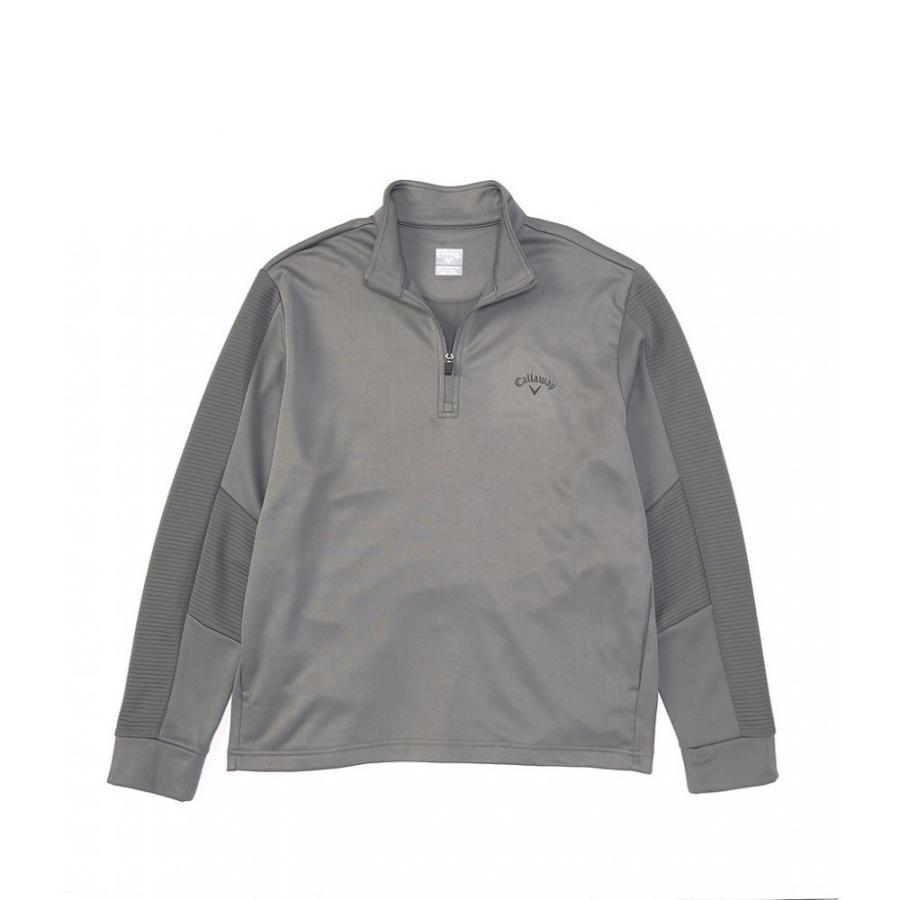 キャロウェイ Callaway メンズ ゴルフ ハーフジップ トップス long-sleeve ottoman quarter zip pullover Quiet Shade