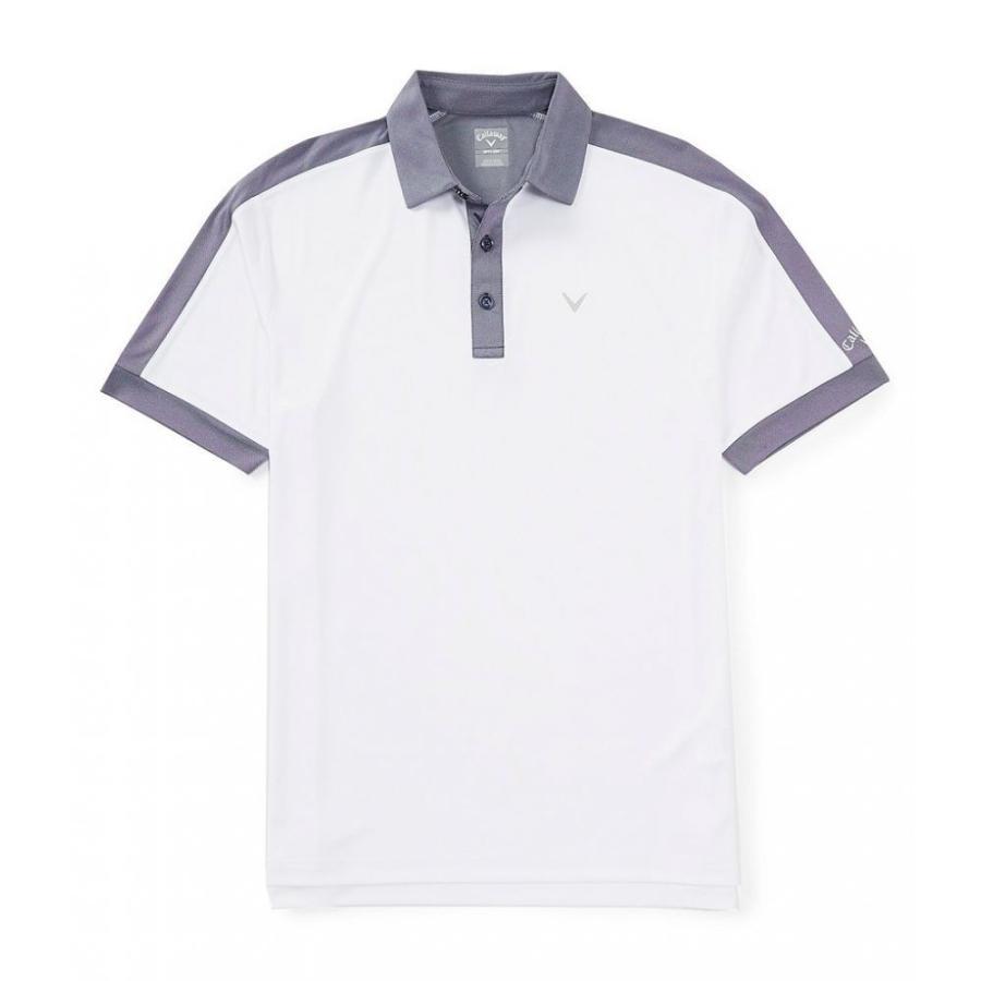 キャロウェイ Callaway メンズ トップス ゴルフ Golf Short-Sleeve Beye Block Polo Bright 白い