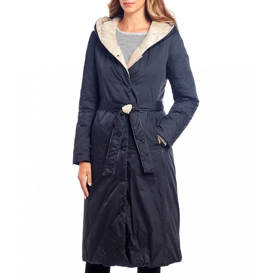 ダナ キャラン ニューヨーク Donna Karan レディース ダウン・中綿ジャケット reversible down filled rain walker detachable hood coat Champagne/黒