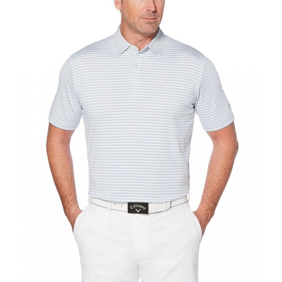 キャロウェイ Callaway メンズ トップス ゴルフ Golf Big & Tall Opti-Stretch 3-Color Stripe Short-Sleeve Polo Shirt Bright 白い
