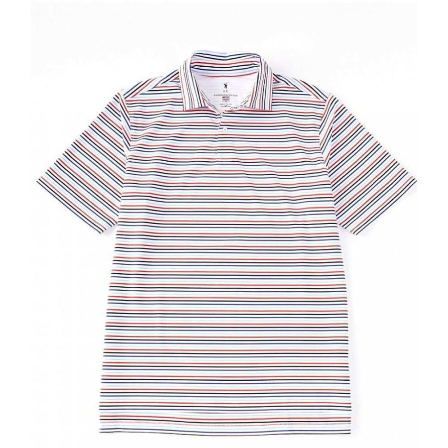 フェアウェイアンドグリーン Fairway & 緑e メンズ トップス ゴルフ Golf Short-Sleeve The Mac Stripe Polo 白い