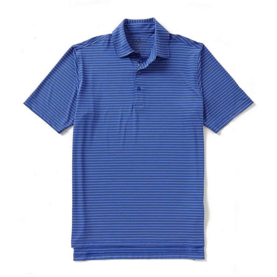 ボビージョーンズ Bobby Jones メンズ ゴルフ ポロシャツ トップス golf performance poly line stripe polo Marina