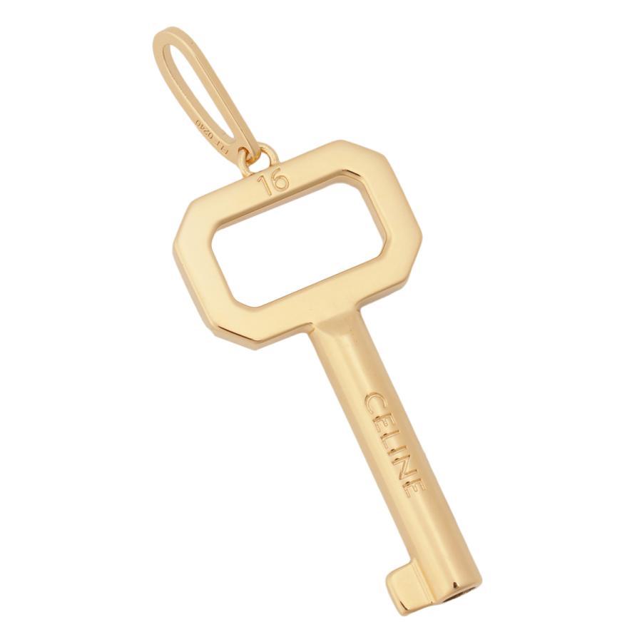 【即納】セリーヌ Celine ユニセックス ネックレス ジュエリー・アクセサリー Logo Key Pendant 46U316BRA Gold ロゴ キー|ef-3