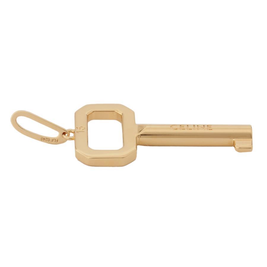 【即納】セリーヌ Celine ユニセックス ネックレス ジュエリー・アクセサリー Logo Key Pendant 46U316BRA Gold ロゴ キー|ef-3|05