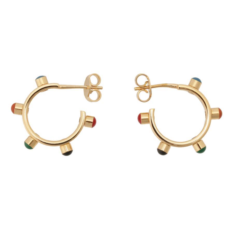 【即納】セリーヌ Celine レディース イヤリング・ピアス ジュエリー・アクセサリー Technicolor Hoop Earrings 46R056BRE GOLD MULTICOLOR スタッズ 2個セット|ef-3|03