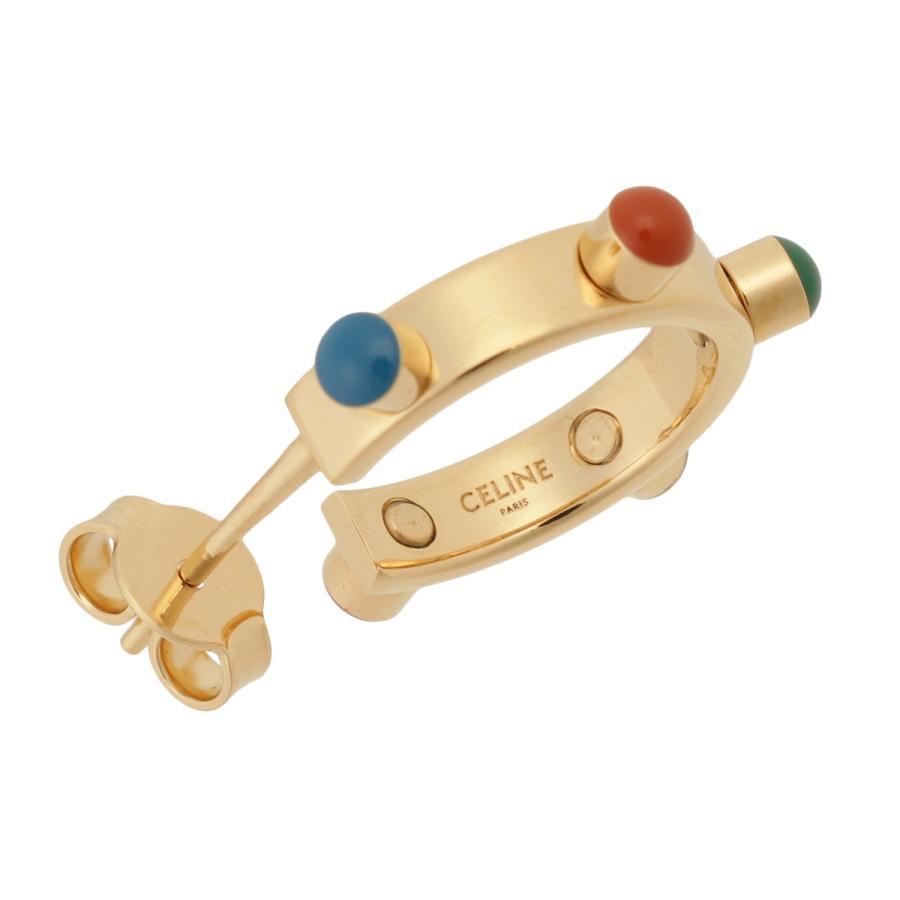 【即納】セリーヌ Celine レディース イヤリング・ピアス ジュエリー・アクセサリー Technicolor Hoop Earrings 46R056BRE GOLD MULTICOLOR スタッズ 2個セット|ef-3|06
