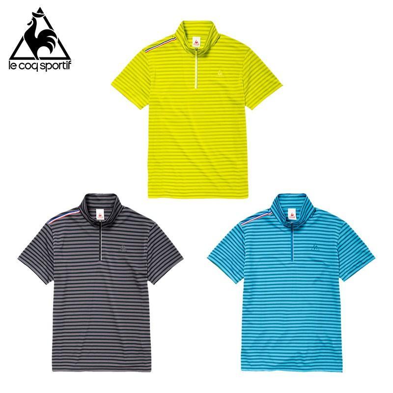メール便OK lecoq sportif(ルコック) QB710171 メンズ トレーニングウェア ハーフジップ 半袖シャツ