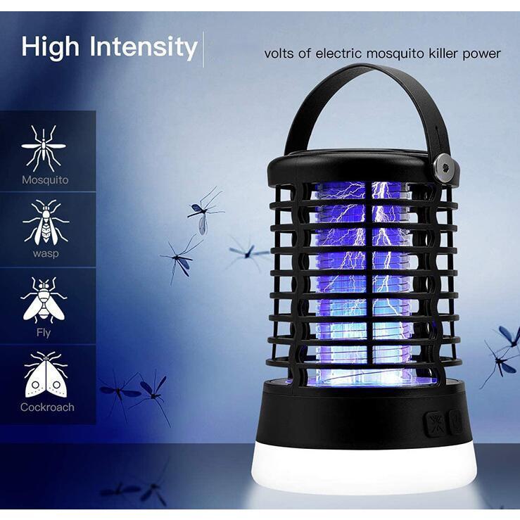 電撃殺虫器 LEDランタン 蚊取り 照明 捕虫器 殺虫灯 屋外室内適用 防水 USB充電式 屋外室内適用 登山 夜釣り 防災 緊急 災害グッズ