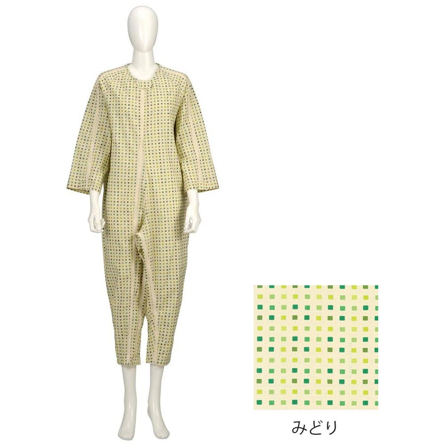 竹虎 ソフトケアねまき スリーシーズン みどり/LLサイズ|egao-ichiba