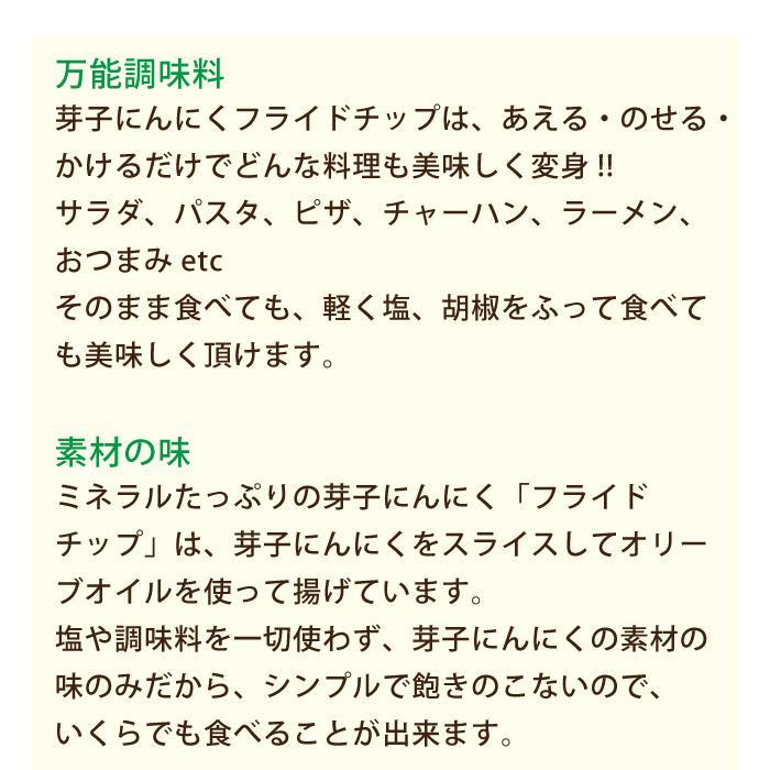 芽子にんにくフライドチップ 120g* egao-ichiba 04