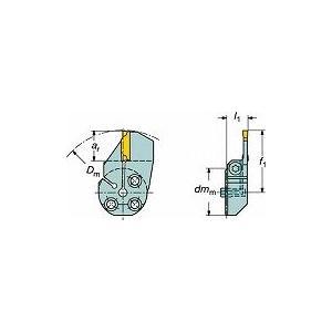 サンドビック コロターンSL コロカット1・2用端面溝入れブレード 57032L123G18B067A