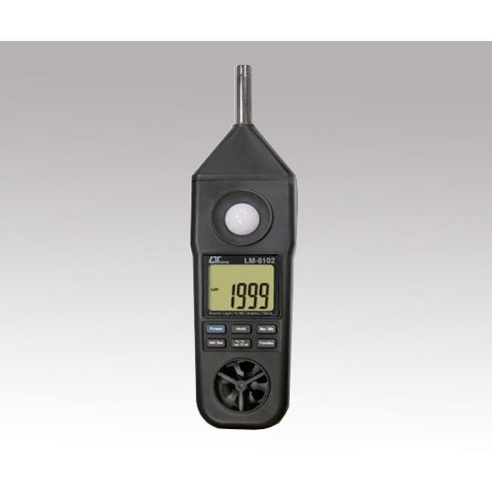 1-1448-01 マルチ環境測定器 温度・湿度・照度・風速・騒音 LM−8102