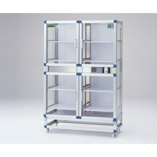 1-6003-12 PETデシケーター 1152×524×1770mm 強化プラスチック棚板