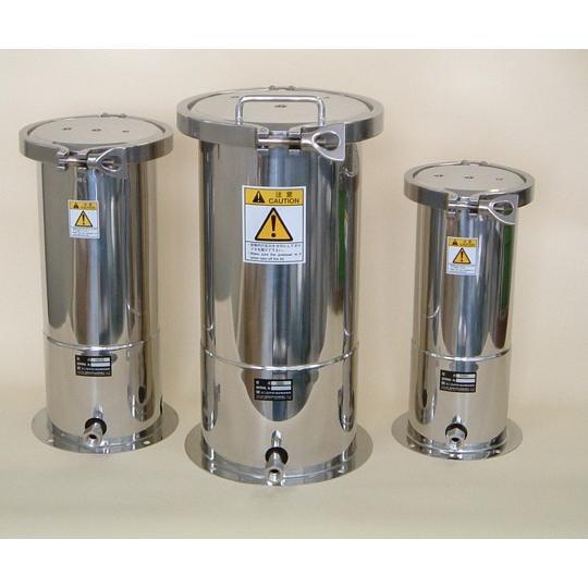 1-9524-04 開口部が広い ステンレス加圧容器 10L