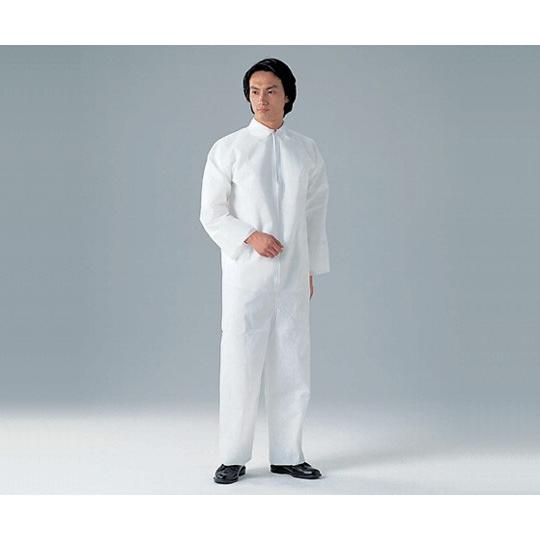 8-4054-12 ディスポ保護衣(つなぎ服) L 50枚入
