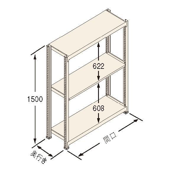扶桑金属工業(株) 中量ラック Jタイプ500KG GSN-J1518B3D