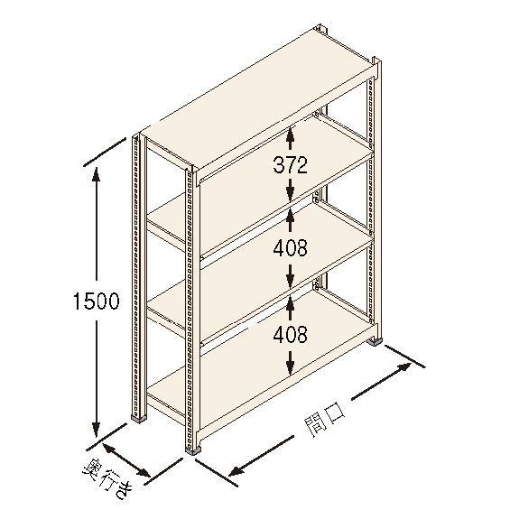 扶桑金属工業(株) 中量ラック Jタイプ500KG GSN-J1512B4R
