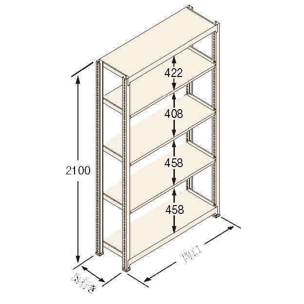 扶桑金属工業(株) 中量ラック Jタイプ500KG GSN-J2118C5R